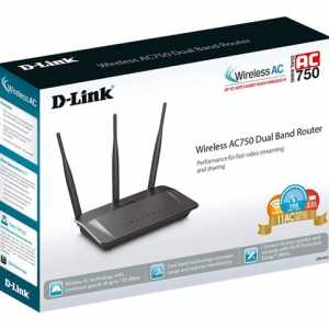 D-Link Router Wireless AC750 DualBand Antena 5dBi Modo Repet