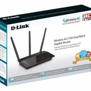 D-Link Router Wireless AC1750 Gigabit DualBand 5dBi IPv6