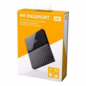"WD MY Passport 2.5"" 4TB Black USB3.0"