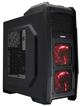 gabinetes o case GAMEMAX M 901 RED ATX FAN X 4 2X LED  -  M-901