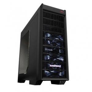 Case o Gabinete  GAMEMAX G501X MID TOWER ATX 3X120mm FAN  -  G-501X